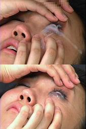 眼に精液発射 がんしゃ(眼射)