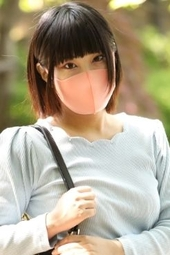 アイメイクばっちり!!【激きゃわマスク女子】20歳のピチピチぴんくマスクでスぅーハぁ―、スぅーハぁ―