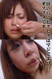 美女の鼻水 手ブラで大量鼻水