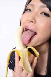 ベロ観察 バナナ咀嚼