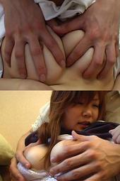 妹の乳・女子校生の乳を背後からいじめる